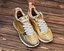 Женские золотистые кроссовки Philipp Plein, фото 2