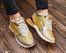 Женские золотистые кроссовки Philipp Plein, фото 3