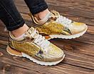 Женские золотистые кроссовки Philipp Plein, фото 4
