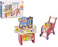 Игровой набор Мой Магазин Сладостей и Мороженого, прилавок, тележка, мороженое, продукты, 668-82, 668-83