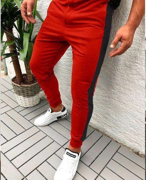 Мужские спортивные штаны с лампасами (5 моделей)