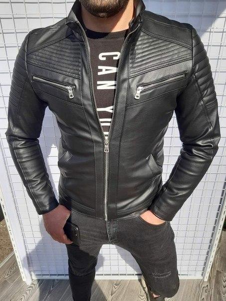 Мужская куртка-кожанка, Турция люкс качество