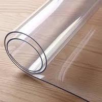 Пленка ПВХ силиконовая,НА МЕТРАЖ 2500 мкм (2.5мм) ширина 0.6м,прозрачная,на окна,столы