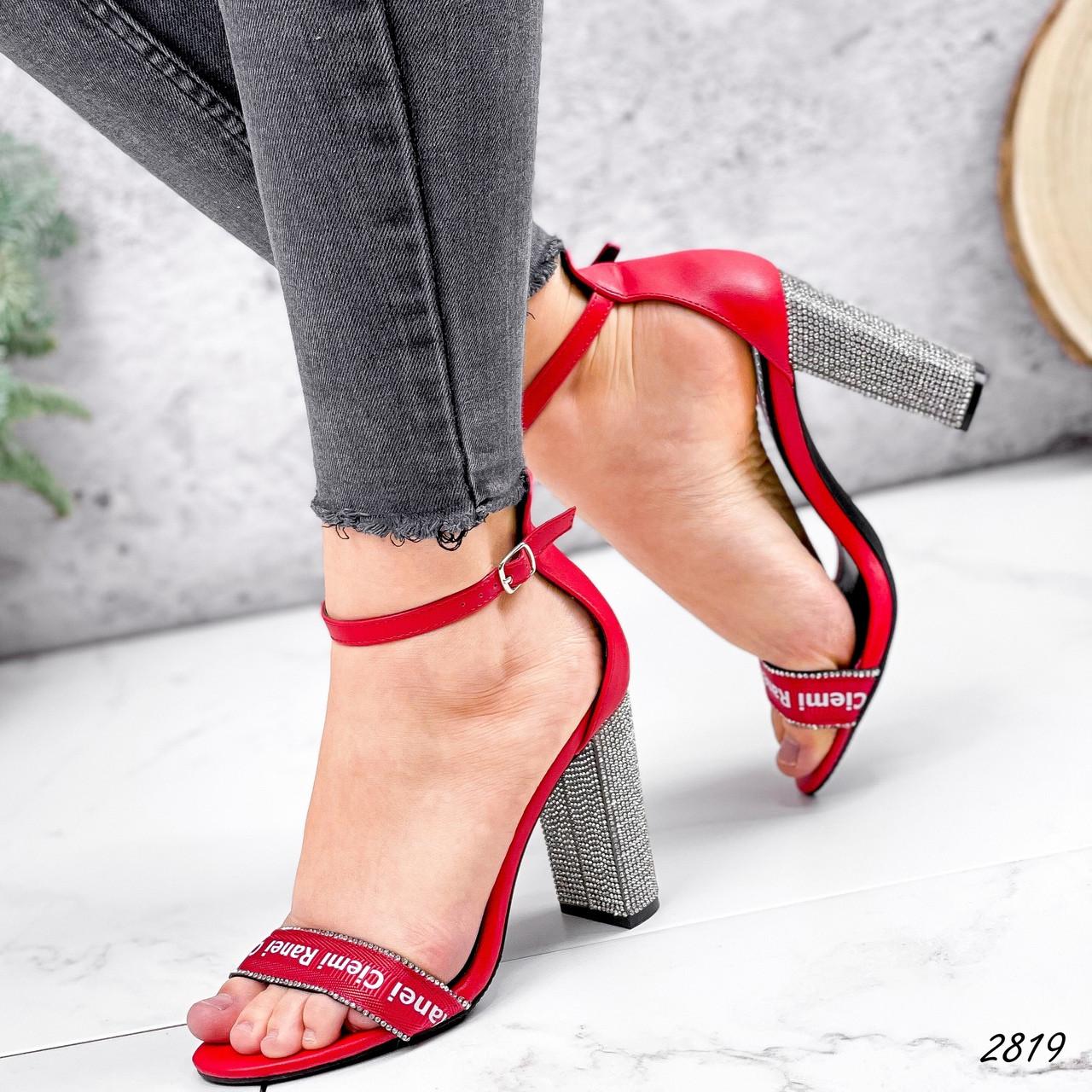 Босоножки женские Nixa красные эко-кожа + текстиль ))