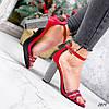Босоножки женские Nixa красные эко-кожа + текстиль )), фото 6