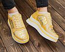 Жіночі модні шкіряні кросівки, якість топ, фото 4