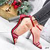 Босоножки женские Nixa красные эко-кожа + текстиль )), фото 7