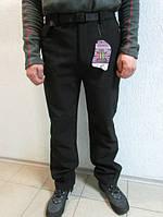 Зимние мужские штаны Azimut 01 чёрные и серые код 113Б