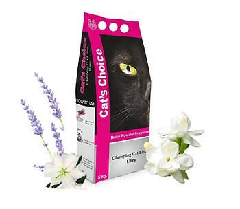 Кошачий наполнитель Indian Cat Litter Cat's Choice Baby Powder - Детская пудра, 5 кг
