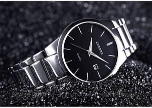 Оригинальные мужские часы стальной ремешок  Curren 8106 Silver-Black / Часы курен оригинал, фото 2