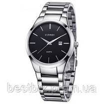 Оригинальные мужские часы стальной ремешок  Curren 8106 Silver-Black / Часы курен оригинал, фото 3