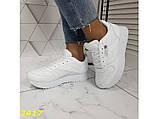 Кроссовки белые на высокой подошве колассика 36, 38, 39, 41 р. (2417), фото 6