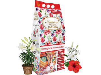 Бентонитовый наполнитель Indian Cat Litter Cat's Choice Springtime Flowers - Весенний букет, 5 кг