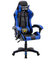 Стул офисный компьютерный Геймерське крісло Офісне крісло EXT ONE синє Офисное кресло до 130кг ПОЛЬША новое