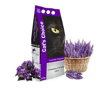 Кошачий наполнитель в туалет Indian Cat Litter Cat's Choice Lavender - Лаванда, 5 кг