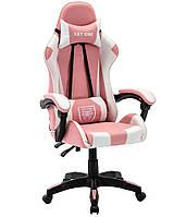 Кресло игровое компьютерное Ігрове крісло спортивне EXT ONE рожеве Крісло в офіс Крісло для дівчини Кресло