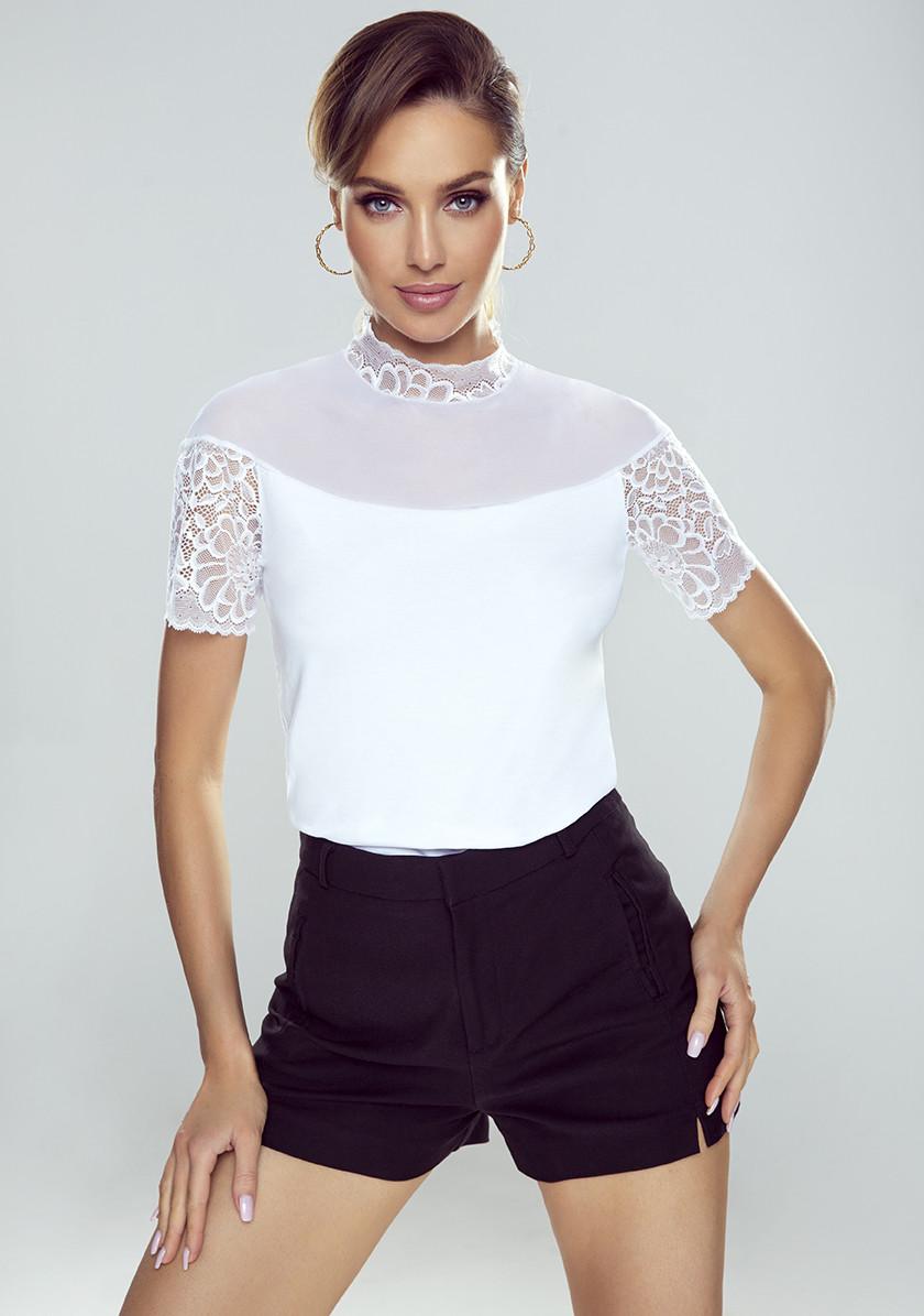 Eldar блуза Melania білого кольору. Колекція весна-літо 2021