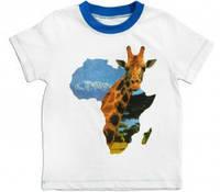 """Футболка для мальчика """"Африка"""", рост 134, цвет белый"""