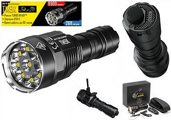 Мощный фонарь NITECORE TM9K, USB Type-C (9500 люмен, 5000mAh, Cree XP-L HD V6, 9 LED, IPX8) Tiny Monster