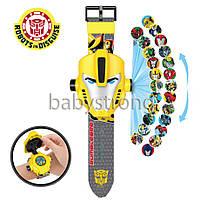 Проекционные детские часы Трансформер Бамблби - 24 вида изображения героев .Projector Watch.