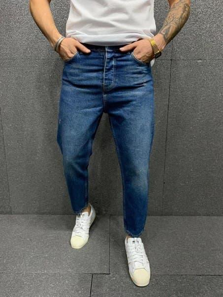 Чоловічі сині вільні джинси Широкі джинси чоловічі