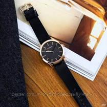 Оригинальные мужские часы кожанный ремешок Curren 8386 Black-Gold-Gray / Часы курен оригинал, фото 2