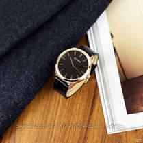 Оригинальные мужские часы кожанный ремешок Curren 8386 Black-Gold-Gray / Часы курен оригинал, фото 3
