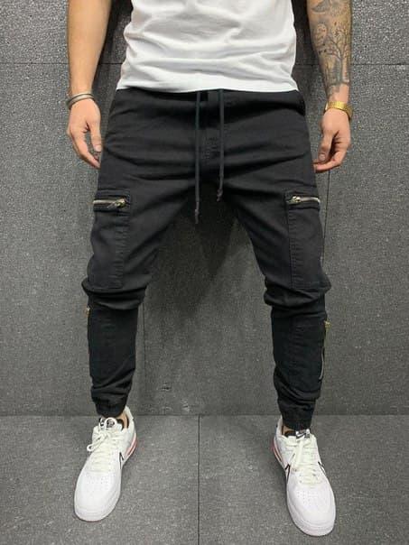 Чоловічі стильні джинси на манжетах