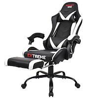 Компьютерное Игровое Кресло Геймерское с Подножкой Extreme ROCKET біле Игровые кресла Стул Крісло компютерне