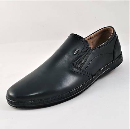 Мужские Мокасины Черные Кожаные Туфли Натуральная Кожа (размеры: 40,41,42,43,44,45) Видео Обзор - 63-2, фото 3