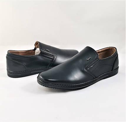 Мужские Мокасины Черные Кожаные Туфли Натуральная Кожа (размеры: 40,41,42,43,44,45) Видео Обзор - 63-2, фото 2