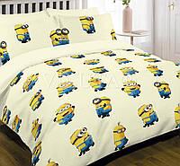Подростковый комплект постельного белья Viluta ткань Ранфорс Миньоны Посіпаки желтое