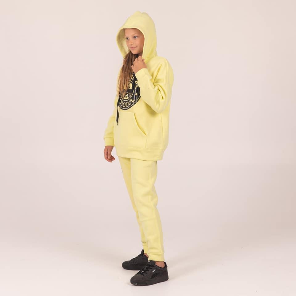 Теплый спортивный костюм  Cool  с начесом  цвет лимон