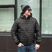 Куртка мужская весенняя от производителя 48-58 черный
