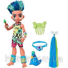 Кукла Пещерный клуб Слейт с прядью и питомец Тэгги Cave Club Slate GNM12