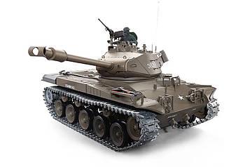 Танк на радиоуправлении 1:16 Heng Long Bulldog M41A3 с пневмопушкой и и/к боем (Upgrade)