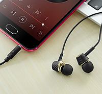Навушники Hoco universal music earphones with microphone Black