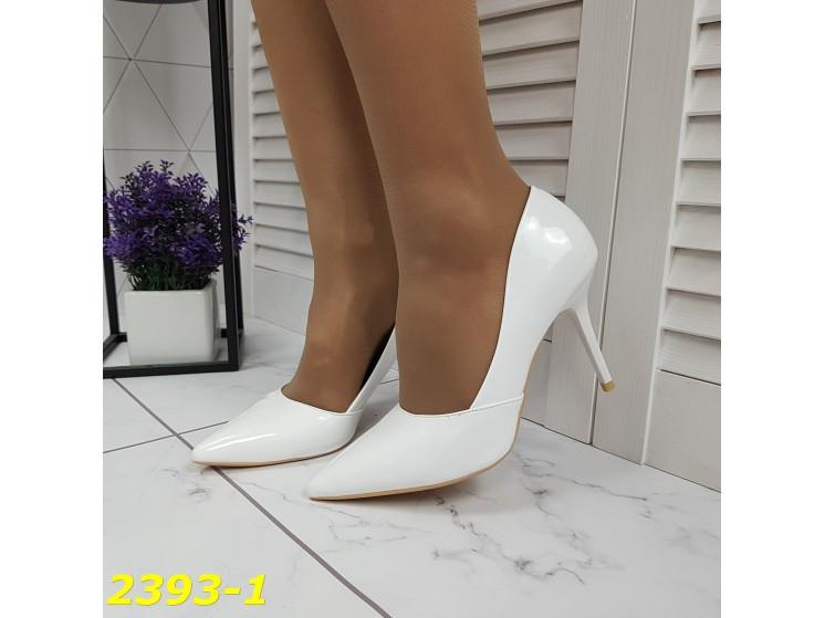 Туфли лодочки на невысоком каблуке белые 36, 38, 39, 40 р. (2393-1)