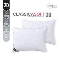 Качественная антиаллергенная подушка для сна 50х70см, 2D Classica Soft двухкамерная