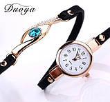 Наручные женские часы с черным ремешком код 208, фото 2