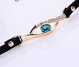 Наручные женские часы с черным ремешком код 208, фото 3