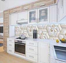 Кухонный фартук самоклеющися 3д кирпичи стильной кладки, с защитной ламинацией, 60 х 200 см., фото 3
