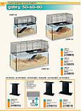 Скляна клітка для піщанок GABRY 60 FERPLAST 60*31,5*h 52 cm, фото 2