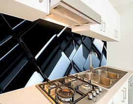 Вінілова скіналі на кухонний фартух 3д куби дзеркальні, із захисною ламінацією, 60 х 200 см., фото 2