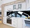 Вінілова скіналі на кухонний фартух 3д куби дзеркальні, із захисною ламінацією, 60 х 200 см., фото 4