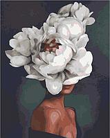 Картина по номерам 40*50 см Цветок раскраска антистресс 40х50 см