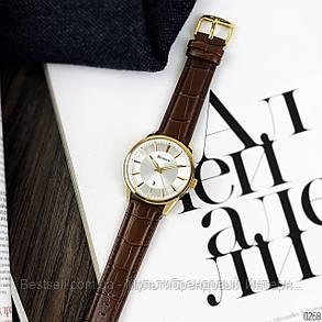 Оригинальные мужские часы кожанный ремешок  Curren 8365 Brown-Gold-White / Часы курен оригинал, фото 2