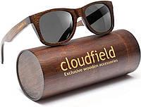 Солнцезащитные очки деревянные Canyon S CF темное дерево с черной линзой