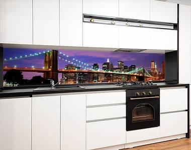 Кухонный фартук самоклеющися Бруклинский мост, с защитной ламинацией, 60 х 200 см.