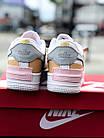 Кроссовки женские Nike Air force shadow White Grey Brown 40, разм, фото 4